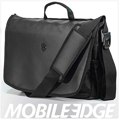 Mobile Edge Alienware Vindicator 2.0 Gaming Laptop Messenger Bag, 13 Zoll / 15 Zoll / 17 Zoll für Studenten, Gamer, Schwarz/Blaugrün (AWV1317M2.0)