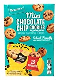 Benton's Mini Chocolate Chip Cookies School Friendly Snack Made in a Nut Free Facility