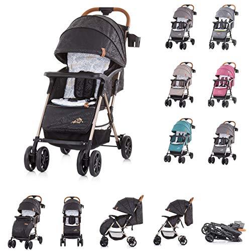 Chipolino 2 in 1 Kinderwagen April, bis 22 kg, klappbar, Vorderräder gefedert, Farbe:schwarz