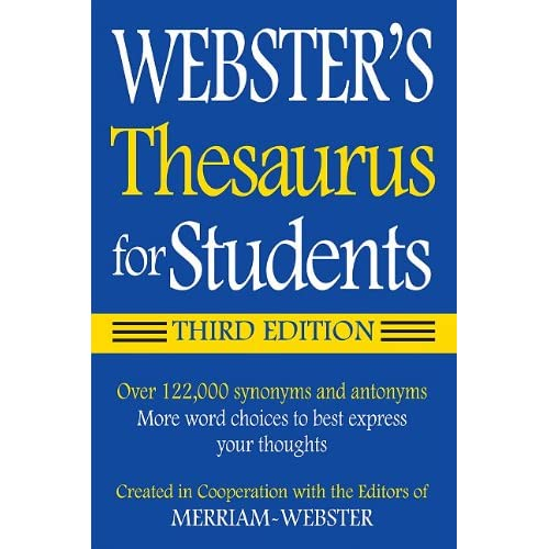 6a2e409f2 Webster s Federal Street Press Thesaurus for Students