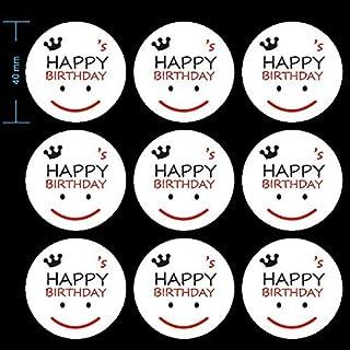 90 Pcs Happy Birthday Stickers, Smiley Face Sticker,Round Stickers, Happy Birthday Envelope Round Seal Decorative Label St...