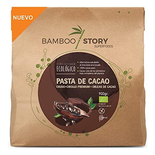 NUEVO - BAMBOO STORY Pasta/Masa/Licor 100% cacao crudo obleas criollo ecológico y bio 900gr.