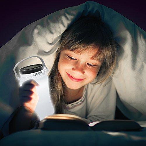 iGadgitz Xtra U4392 Solar Glow 100lm USB Rechargeable Battery & Solar Camping Storage Bottle Lantern - White