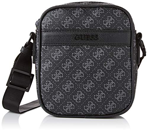 Guess4g Sport Mini Document CaseHombreBolso bandoleraNegro (Black)4x18x14.5 centimeters (W x H x L)