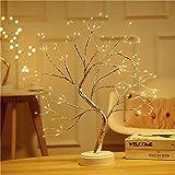 Tisch Bonsai Baumleuchte 108 LED-Kunstbaum leuchte Batterie-/USB-betriebener Mini-Weihnachtsbaum Verstellbare Zweige für die Weihnachtsdekoration zu Hause (Warmweiß)