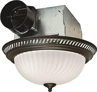 Air King DRLC701 Round Bath Fan with Light, Bronze