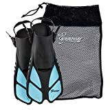 Seavenger Torpedo Snorkeling Fins for Travel (Dodger...
