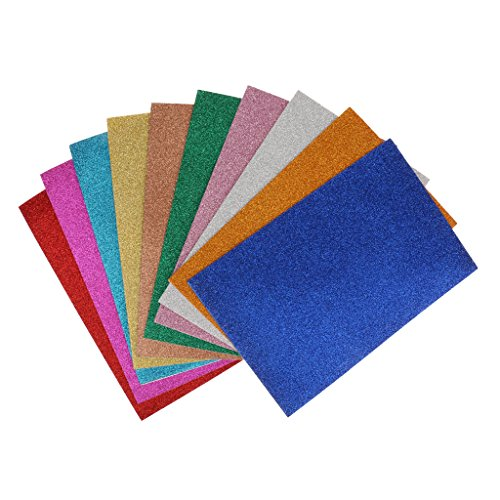 Sharplace 10 Paquet Autocollant Feuilles Mousse De Paillettes