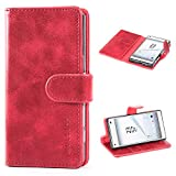 Mulbess Sony Xperia Z5 Compact Case Wallet, Leather Folio