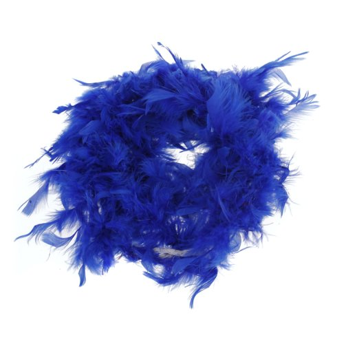 Royal Blue Feather Boa Fluffy Craft Decoration 6.6 Feet Long by Generic
