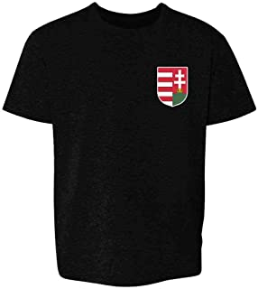 Hungary Soccer Retro National Team Costume Youth Kids Girl Boy T-Shirt
