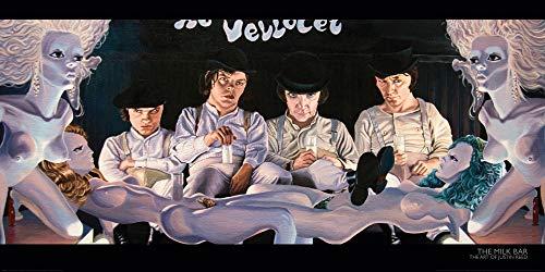 1art1 Justin Reed - Die Milchbar, Uhrwerk Orange Poster Kunstdruck 100 x 50 cm