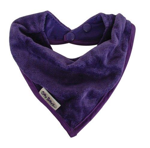 Silly Billyz SIB-200VI Sabber-Lätzchen Bandana-Style, 0-24 Monate, Velours, violett