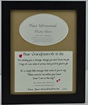 """All Things For Mom """"Grandparents to Be"""" Ultrasound Picture Frame with Burlap Mat (8""""x10"""")"""