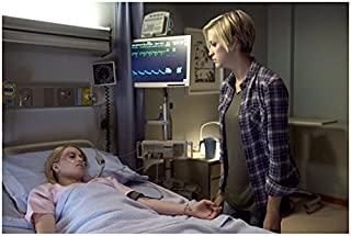 Supernatural Brit Sheridan as Kate standing over Emily Tennant as Tasha in hospital bed 8 x 10 Inch Photo