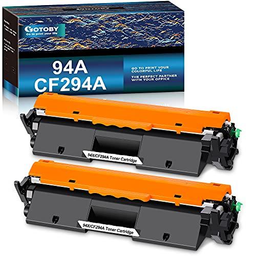 GOTOBY Compatible Toner Cartridge Replacement for HP 94A CF294A 94X CF294X High Yield Work with HP Laserjet Pro MFP M148dw, M148fdw, M118dw, Laserjet M148, Laserjet M118 Printer(Black, 2 Pack)