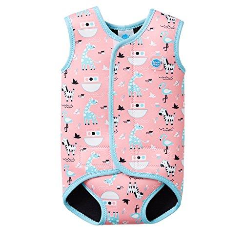 Splash About Baby Wrap Wetsuit Traje de Neopreno, Infantil, Rosa (Nina'S Ark),...