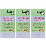 Yinchiao Tablets, Herbal for Cold Seasons Relief, Super Strength 450MG (120 Tablets) - 3 Bottles