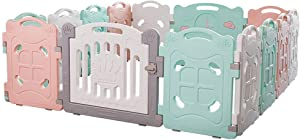 ZXRET Baby Fence Children Indoor Home Playground Baby Game Safety Toddler Crawling Fence Detachable Park Plastic Fence