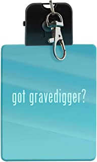 got gravedigger? - LED Key Chain with Easy Clasp