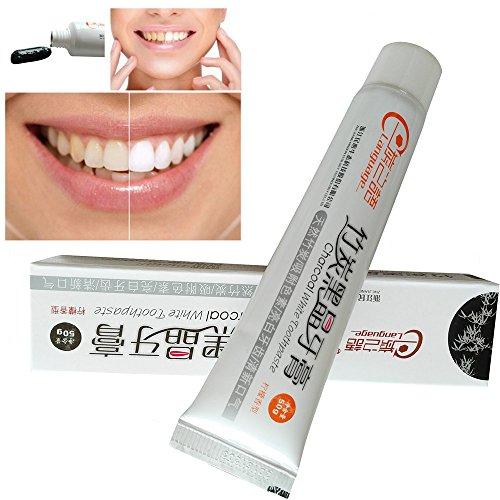 Aktivkohle Zahnpasta - Bambuskohle Schwarze Zahnpasta - Natürliche Zähne Weisser Machen - Minzgeschmack - Weiße Zähne & Zahnreinigung - für Empfindliche Zähne