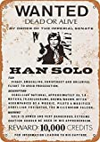 LAUGH WELL Wanted Han Solo Metall Blechschild Retro Metall