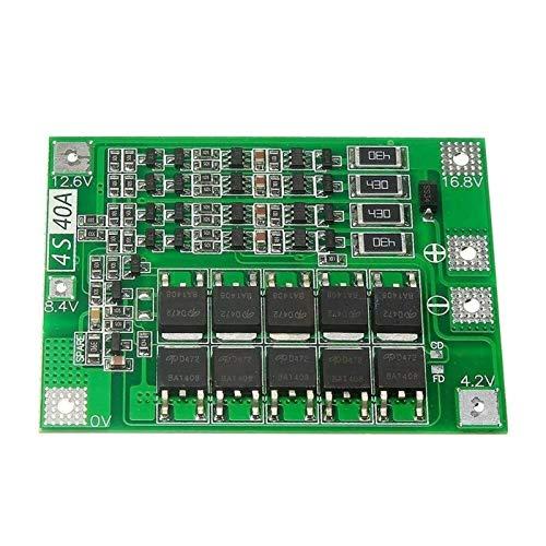 Durable Sensor de rango infrarrojo 4S 40A 18V 16.8V Lipo Cell Li-ion Batería de litio 18650 Cargador PCB Placa de protección BMS con equilibrio para motor de taladro Módulo de alta eficiencia Accesori