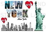 Stickers DÉCORATIFS USA Etat-Unis à découper (Planche à Stickers Dimensions 21x28cm en Papier ADHESIF Transparent)