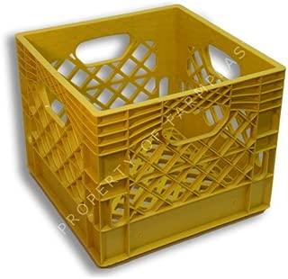 Dcrates Small Yellow Plastic Milk Crate 13x13x11