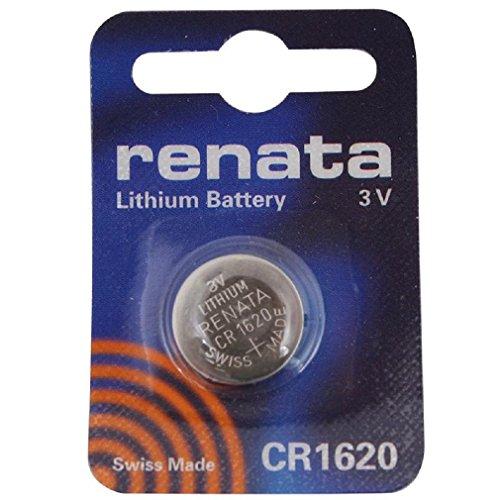 Renata CR1620 3V Lithium knoopcel voor horloges DL1620 ECR1620 BR1620 BR1620 BR1620 2 x CR 1620 Zilver.
