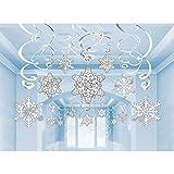 Amscan 670550 Snowflake Cutouts Value Pack, 30 Ct. | Christmas Decoration 24'