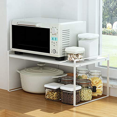 Wmeat-S Küchenregal Mikrowellenregal Bäcker Regal, Standregal Mikrowellenhalter Platzsparendes (Size : L)