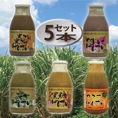 国産玄米100%使用!飲み比べて健康増進!家族揃って栄養満点!玄米飲料(うるま・黒ごめ黒ごま・よもぎ・べにいも・黒糖)5本セット!