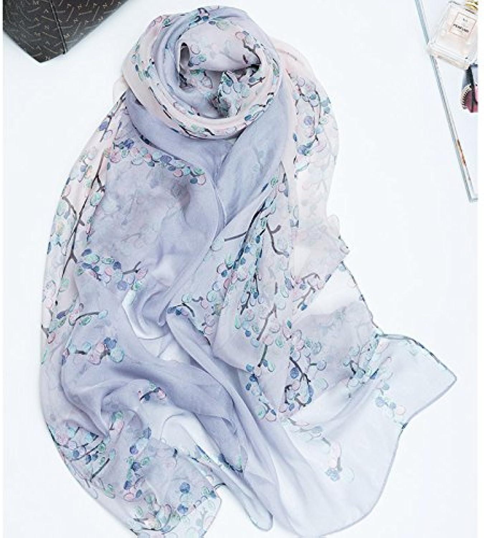 KYXXLD Hochwertige Seide Seidenschal Schal und Langer Schal weiblichen Winter Schal