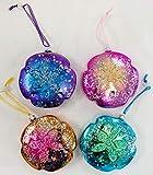 Blown Glass Sand Dollar Christmas Ornaments -...