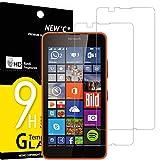 NEW'C 2 Stück, Schutzfolie Panzerglas für Nokia Microsoft Lumia 640, Frei von Kratzern, 9H Festigkeit, HD Bildschirmschutzfolie, 0.33mm Ultra-klar, Ultrawiderstandsfähig