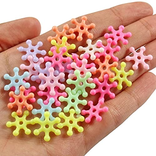 100 unids/lote mezclado cuentas de acrílico corazón estrellas flojo espaciador perlas para costura joyería fabricación hecha a mano DIY pulsera accesorios
