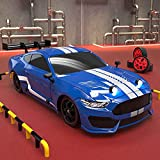 Nsddm Mustango GTR 1/16 Modelo RC Coche, control remoto de 2.4GHz, 4 × 4 Super GT Dirt Racing Car 30km / h Vehículo de juguete de alta velocidad para niños y adultos, (DIRIGIÓ Kit de luz / 2 neumático