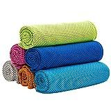 minminwu 6 Piezas de Toalla de enfriamiento Super Absorbente Toalla de enfriamiento para Deportes Fitness Yoga Viaje Camping