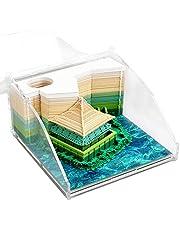 付箋 メモ帳 付箋紙のメモ 3D立體 紙の彫刻 紙建築シーン模型組立 蕓術のブロック 和風クラフト 紙のカード プレゼン