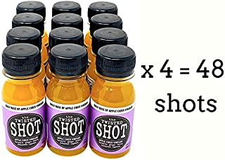 The Twisted Shot | Organic Apple Cider Vinegar Shots with Turmeric, Ginger, Cinnamon, Honey & Cayenne | 48-Pack of 2oz Shots