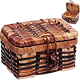 alles-meine.de GmbH Miniatur - Picknickkorb / Korb / Wäschekorb - mit Deckel - Maßstab 1:12 -...