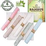 Tonsovic Premium Bambus Tücher 6 Set - perfekt geeignet für die Küche und zum Fenster Putzen - Wiederverwendbare...