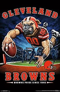 Trends International NFL Cleveland Browns - End Zone Wall Poster, 22.375