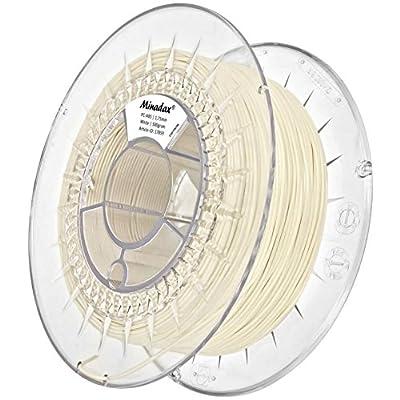 Minadax® 0,5kg Premium Qualitaet 1,75mm PC-ABS-Filament Weiss Fuer 3D-Drucker