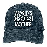 VJSDIUD Gorra de Mezclilla Popular Unisex La Madre más Grande del Mundo Sombrero de Camionero para Adultos Gorras de béisbol Ajustables Vintage