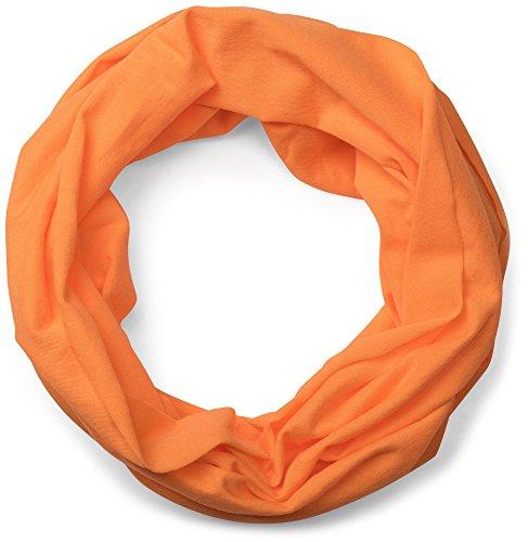 styleBREAKER styleBREAKER Jersey Multifunktionstuch, Schlauchtuch, Stirnband, Haarband, Kopftuch, Loop Schlauchschal, Unisex 01012037, Farbe:Orange