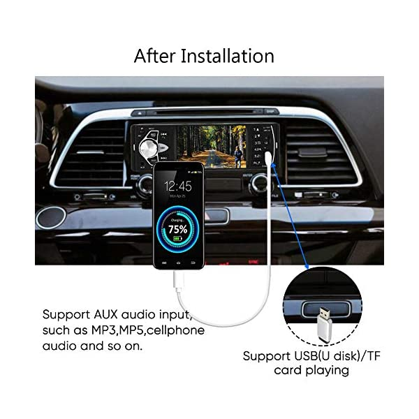 """Bluetooth Car Stereo Radio with 4.1"""" Touchscreen & Rear View Camera, Car MP5 Player Radio Universal HD Touch Screen Universal Multimedia Player, Steering Wheel Control, Rear View Camera 5"""