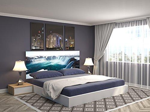 Cabecero Cama PVC Impresión Digital Cascada Agua 150 x 60 cm | Disponible en Varias Medidas | Cabecero Ligero, Elegante, Resistente y Económico