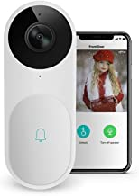 Video Doorbell - A.I. WiFi HD Camera Doorbell with Facial Recognition, Voice Interaction, Night Vision, Motion Detection, Wireless Doorbell, Push Notification, Compatible with Alexa Echo Show (White)